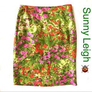 Sunny Leigh Lightweight Cotton Unlined Skirt Sz 6
